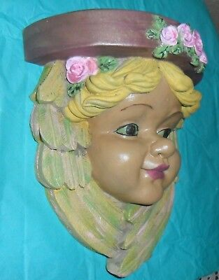 Cherub Angel, Large Heavy And Lovely Wall Sconce Shelf Collectible Candle Holder