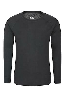 Mountain Warehouse Mens Long Sleeved Round Neck Top No Zip with Isotherm