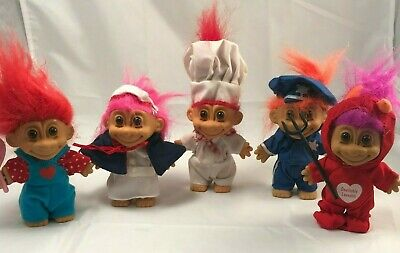 New RUSS TROLL DOLL VALENTINE FOR YOU WITH HUGS /& KISSES NOTE CARD RARE