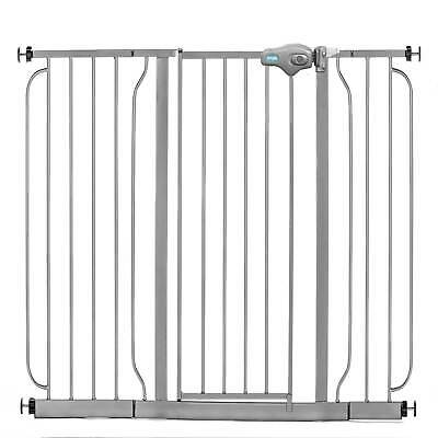 Regalo 51 Inch Easy Step Extra Wide Walk Thru Baby and Pet Safety Gate, Platinum