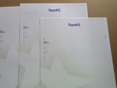 lot of Atlantic City HARRAH'S HOTEL & CASINO STATIONARY - 10  SHEETS