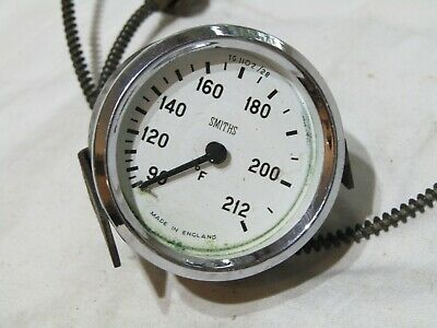 Vintage Smiths Capillary Type Temperature Gauge Fits Austin Morris Riley Mg
