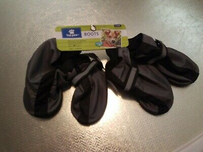 Top Paw Dog Boots Feet Cover  Paw Protectors Shoes Strap Anti-Slip Sole