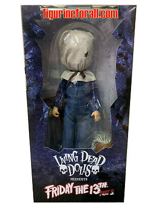 """Mezco Living Dead Dolls JASON VOORHEES 10"""" Doll Friday The 13Th Part 2 DLX ED"""