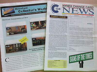 New York City Metrocard Collector's Newsletter & Nynex Phone Card Newsletter
