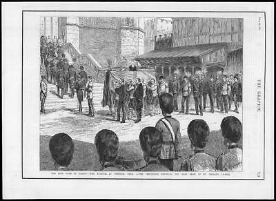 1884  Antique Print - Funeral Windsor Duke Albany Procession St George's  (204)