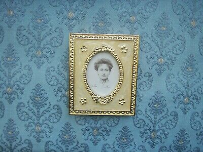 Fine Cream Enamelled Gilt Metal Russian Style Oblong Imperial Photo Frame