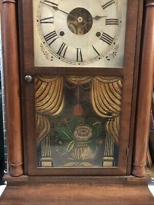 Antique Seth Thomas Weight Driven Movement Wall Or Mantle Clock