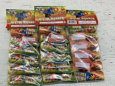 Fireworks Label 18 Small Pistol Poppers Labels