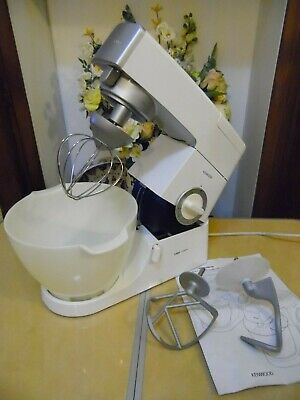 Kenwood Chef KM330 Classic Mixer White With Bowl Dough Hook K Beater & Whisk