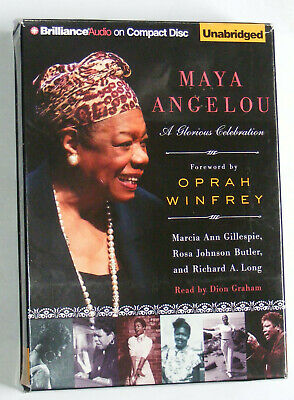 MAYA ANGELOU: A GLORIOUS CELEBRATION unabridged 3 audio CD set AUDIOBOOK vgc