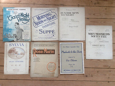 Vintage Piano & Vocal Songs, Sylvia, Goodnight Vienna, 1920s-1950s Sheet Music
