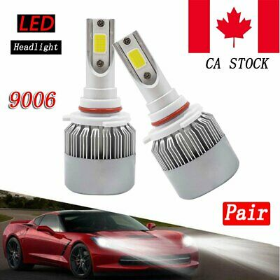 2X 9006 HB4 LED Headlight Bulbs Conversion Car Kit 200W 20000LM 6000K High Power
