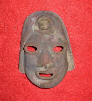 Ancient Pottery Teracotta Mask-Inca-Aztez-Pre-Historic-Columbia-Estate