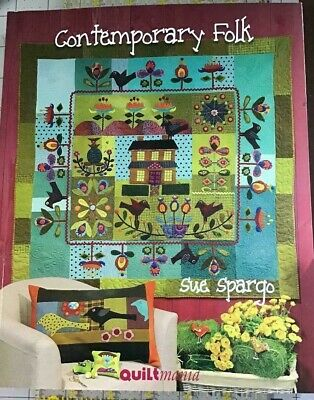 Contemporary Folk - A New Copy Of Sue Spargo Quilt/Applique Book -  Rare