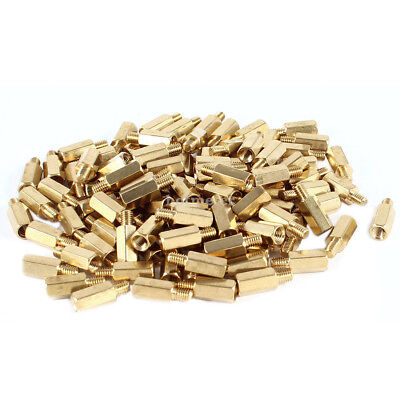 H● 100* PC PCB Motherboard Brass Standoff Hexagonal Spacer M3 9+4mm 13  x5 mm.
