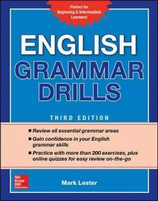 English Grammar Drills, Second Edition by Mark Lester 9781260116175 | Brand New