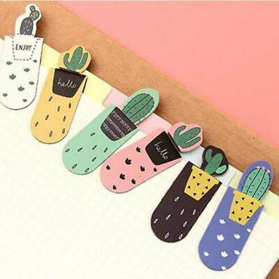 3Pcs/pack Cactus Magnetic Bookmark Page Marker School Office Supply Stationery