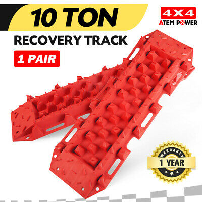 Pair 4WD Recovery Tracks 10T Pair Off Road 4x4 ATV Snow Mud Sand Track 10 tons