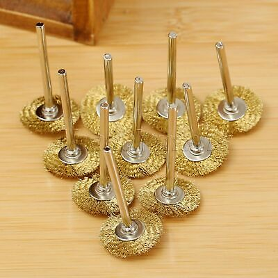20pcs Brass Wire Wheel Brushes Power Rotary Drill Weld Polishing Tool Durable