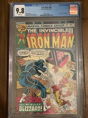 Iron Man 86 CGC 9.8 White Pages First Appearance Blizzard Tony Stark Bronze Age
