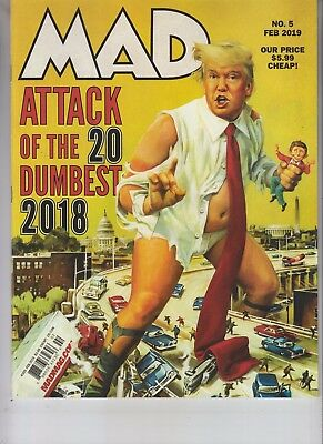 2018 Top 20 Dumbest Mad Magazine February 2019 No Label Donald Trump Attack