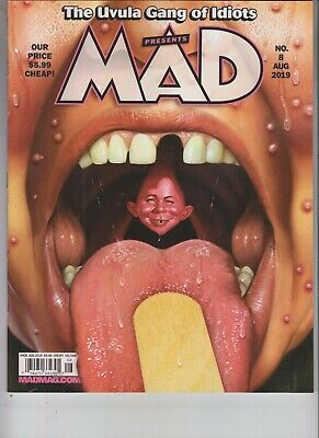 Mad Magazine August 2019 Uvula Gang Of Idiots Issue #8