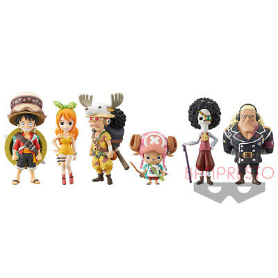 One Piece World Collectible Figure vol FROM JAPAN 1 2 Complete set of 8 Ba...