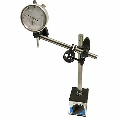 DTI Dial Indicator Gauge with Magnetic Base Stand Engineers Clock & Stand Set