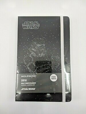 Moleskine 2018 Star Wars Limited Edition Stormtrooper Lrg Daily Diary/Notebook