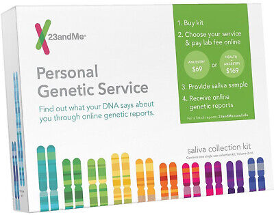 23andme Personal Genetic Service DNA Saliva Kit For Ancestry & Health 23 Me