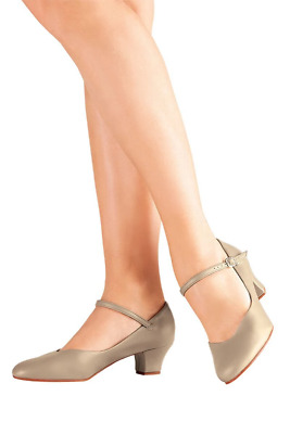 "Tan So Danca 1.5"" heel character/stage dance shoes (CH50) - UK 2"