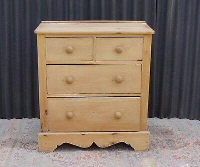 Rustic Pine Drawers Old Scrubbed Pine Vintage Antique   - Delivery Available