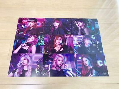 TWICE  5th  single Breakthrough flyer 9 complete set TOWER RECORDS photo card