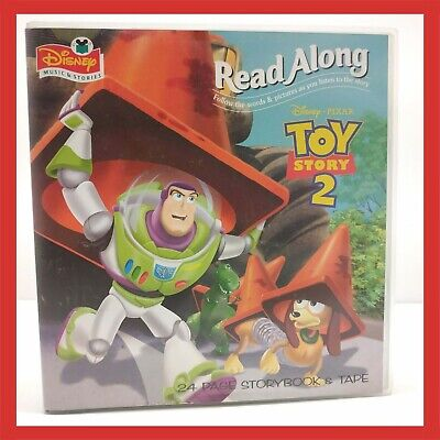 AUDIO Toy Story Read Along Cassette 24 Page Book Tape Walt Disney Retro Old 1995