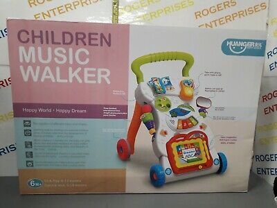 Childrens Baby 2 In 1 Walker Musical Sounds Push Along Toy Age 6m+ NEW