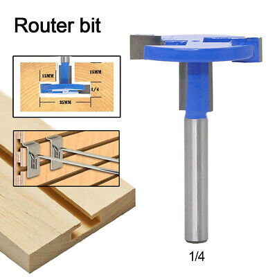 1/4'' Shank T-Type Router Bits Straight T Slot Router Woodworking Cutter Tool