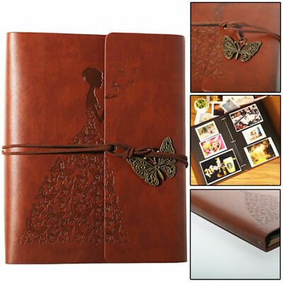 Vintage Self Adhesive Leather Photo Album large vintage Birthday / Aniversary