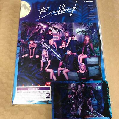 TWICE 5th single Breakthrough first press A ver. CD + booklet + group photocard