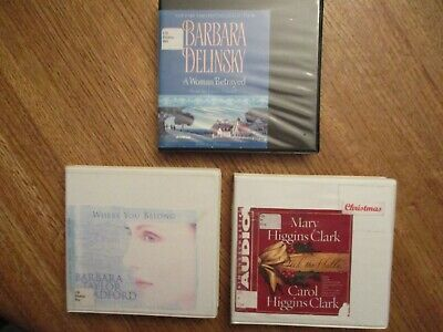 3 novels on CD female authors:  Delinsky, Bradford and the Clarks-Mary & Carol