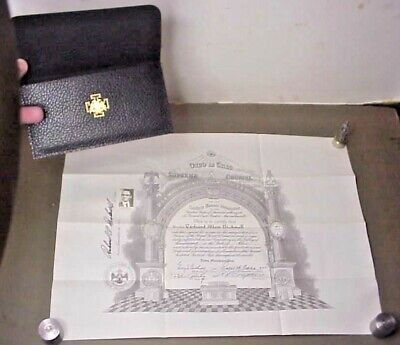 1944 VINTAGE MASONS MASONIC CERTIFICATE ROYAL SECRET 33rd