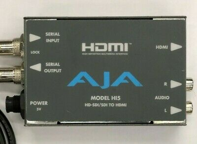 AJA HI5 HD/SD-SDI to HDMI Converter with power supply