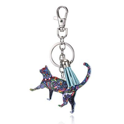Lovely Printing Animals Cat Key Chain Keychain Pendant Keyring Accessories Hot