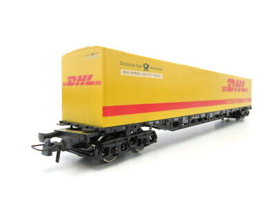 (LS374) Roco Memo DC H0 Exclusivserie Containertragwagen DHL OVP