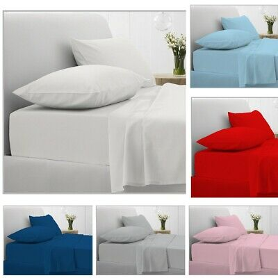 200Tc Extra Deep 40Cm Fitted Sheet 100% Egyptian Cotton Double Super King Size