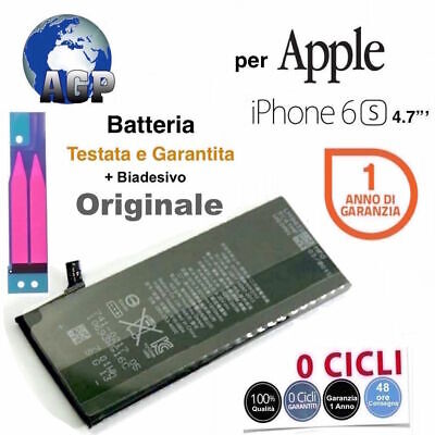 "Batteria Originale per Apple iPhone 6S 4,7"" da 1715 mAh Zero 0 Cicli"