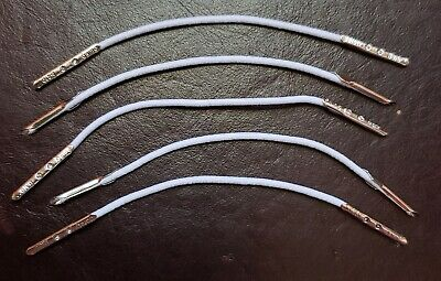 """Doll Hat 3"""" Elastic Chin Straps W/Metal Ends (Package of 5)"""