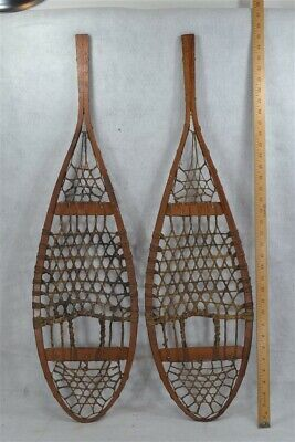 snowshoes hand made Huron beaver style 19th c antique original
