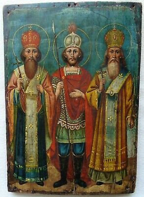 "Antique Russian Icon of ""Selected Saints"". 19th Century."