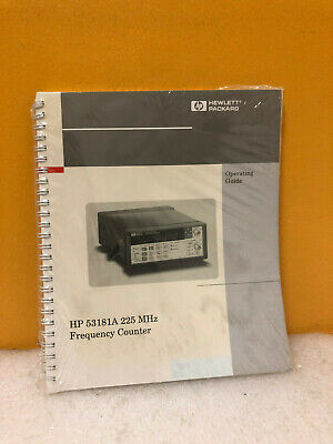HP 53181-90001 53181A 225 MHz Frequency Counter Operating Guide